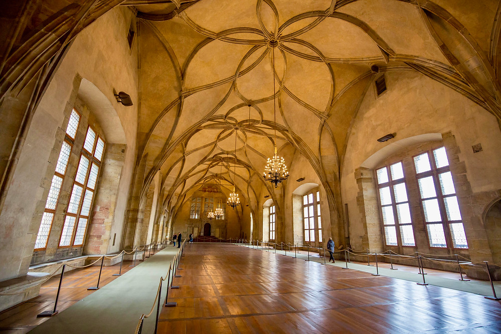 Gothic Hall in the Royal Palace of the Prague Castle Complex