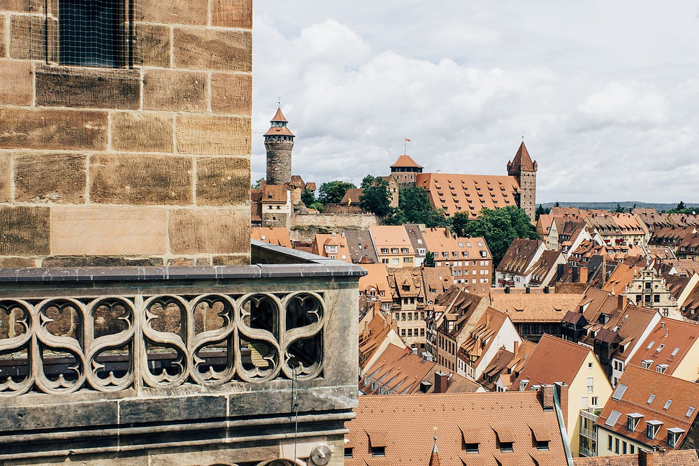 view of Nuremberg from the South Tower of St. Sebaldus Church