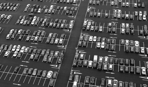 'Cars from Above' by Hamilton McClements, City of Belfast Photographic Society