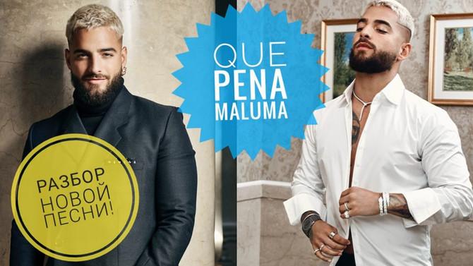 Перевод испанской песни Maluma, J Balvin - Qué Pena