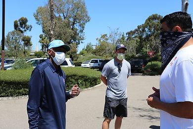 Marcus Preciado, Charlie Joiner, and Nick Novak prepare for the event.