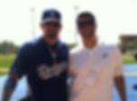 Cielo Sports Marcus Preciado with Adrian Gonzalez and Cielo Sports