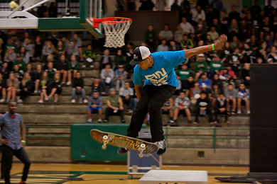 Pro skater Rod James wows the crowd at SuperFest