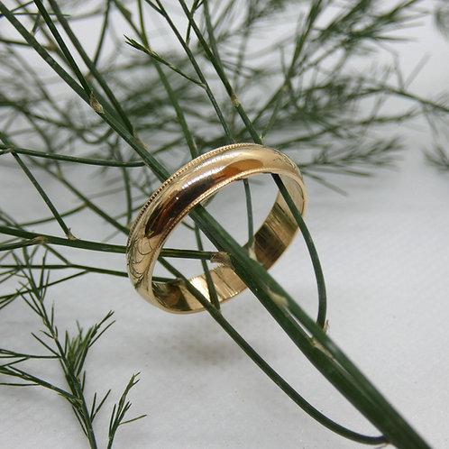 Yellow Gold 5mm Milgrain Band