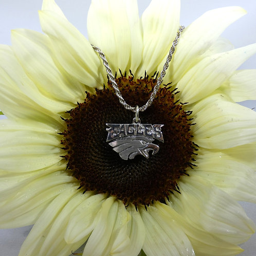 "Philadelphia Eagles Sterling Silver Pendant Necklace with ""Eagles"""