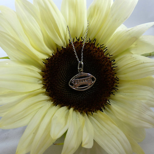 Philadelphia Eagles Sterling Silver Pierced Pendant Necklace