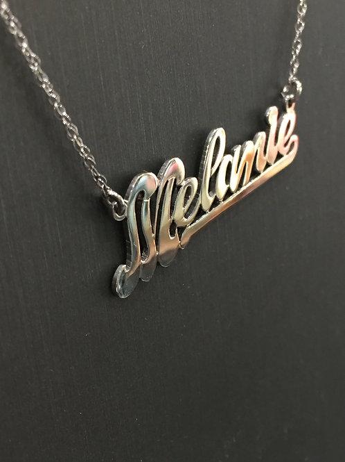 14 Karat Gold Name Necklace