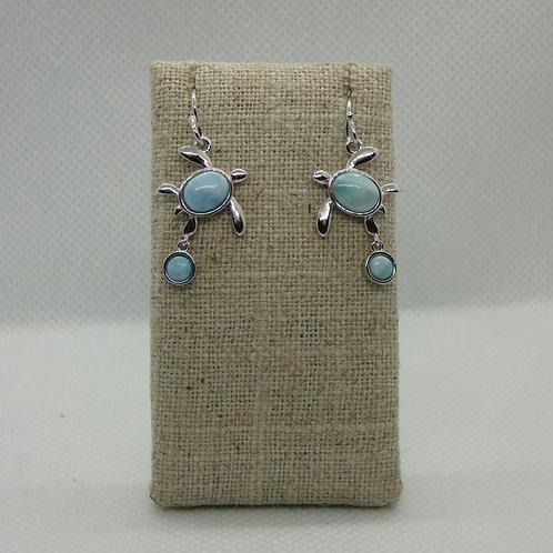 Sterling Silver Turtle Dangle Earrings