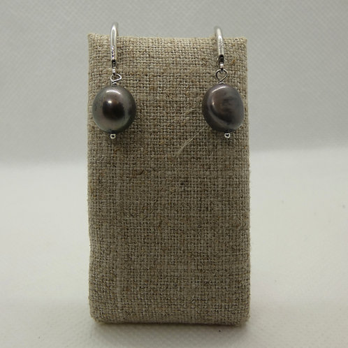 Sterling Silver Freshwater Baroque Pearl Earrings