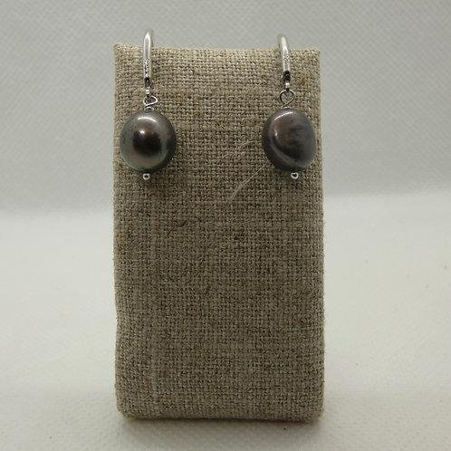 Sterling Silver Freshwater Baroque Pearl Earrings