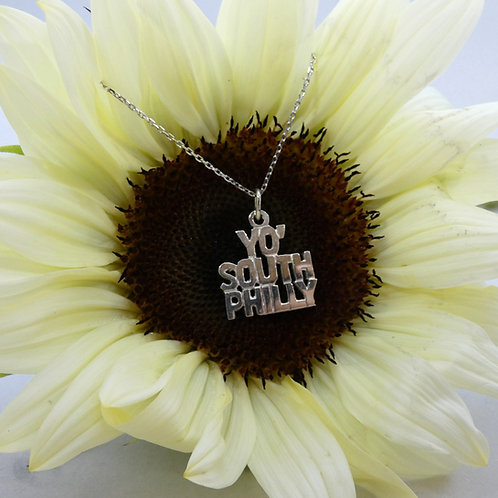 """Yo, South Philly"" Sterling Silver Pendant Necklace"