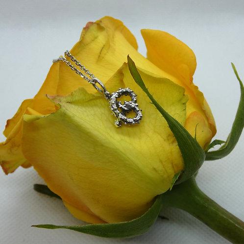 Sterling Silver Pretzel Pendant Necklace