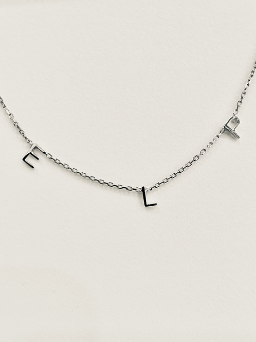 Sterling Silver Petite Initial Necklace