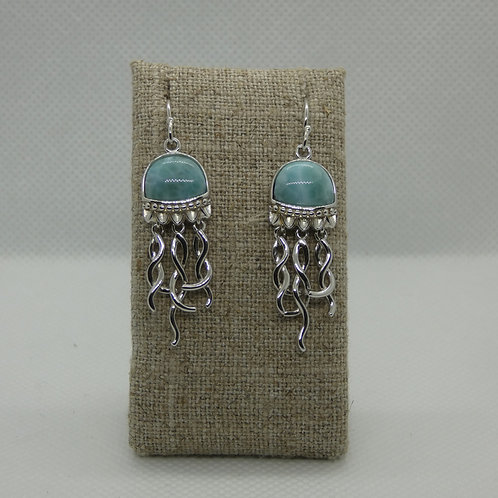 Sterling Silver Jellyfish Dangle Earrings