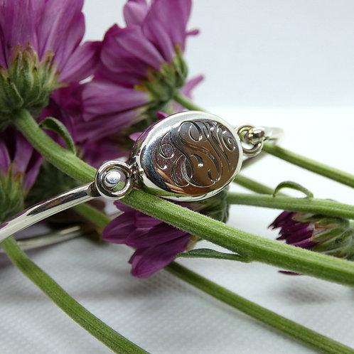 Monogrammed Sterling Silver Bracelet