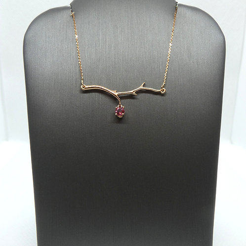 Family Tree Branch Necklace with Birthstone