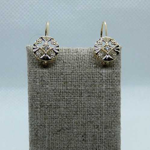 14 Karat Yellow Gold Vintage-Style Earrings