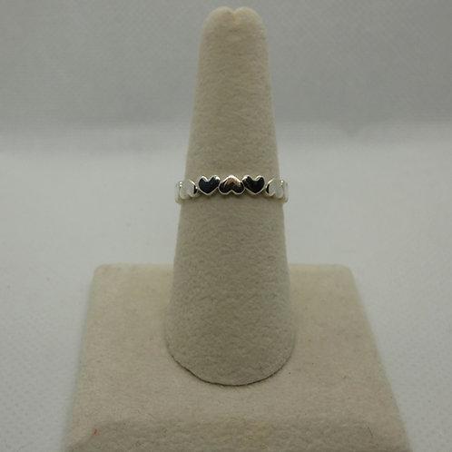 Sterling Silver Multi Heart Ring
