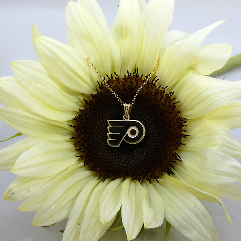 Philadelphia Flyers Sterling Silver & Gold Plated Pendant Necklace