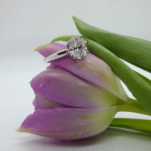 White Gold Oval Ring
