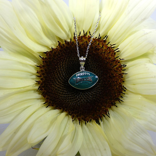 Philadelphia Eagles Sterling Silver Pendant Necklace with Enamel