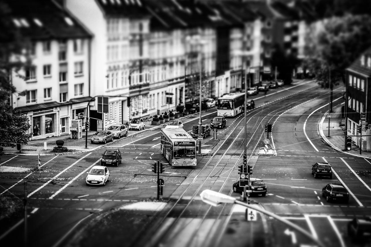 Straßenkreuzung in Essen