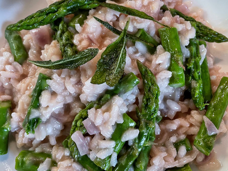 Risotto With Asparagus and Sage
