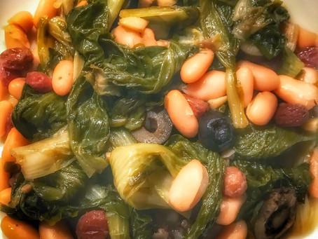 Italian Style Escarole with Cannellini Beans