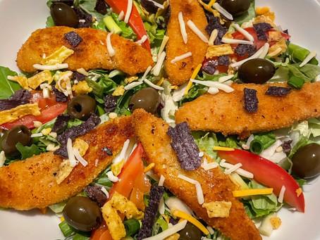 Southwest Salad with Vegan Chicken Tenders