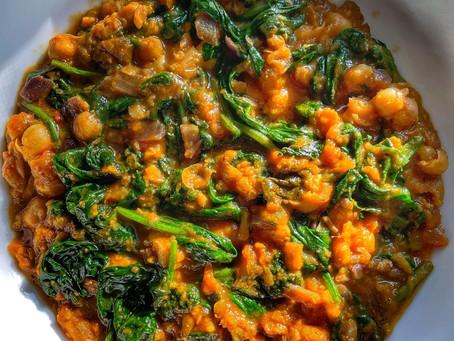 Spinach Chana Masala