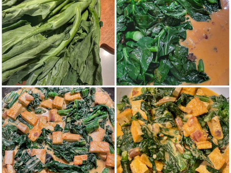 Creamy Pumpkin Curry with Gailan(Chinese Broccoli) and Tofu