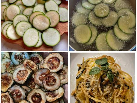Zucchini Spaghetti à la Stanley Tucci