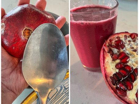 Fresh Pomegranate Juice and Best Way to Remove Seeds
