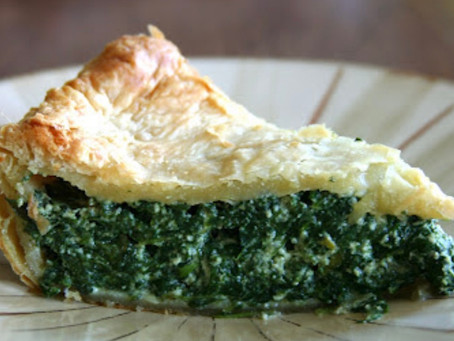 Italian Spinach Pie with Vegan Sausage and Mozzarella