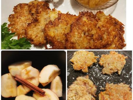 Hanukkah Latkes With Cinnamon Apple Compote