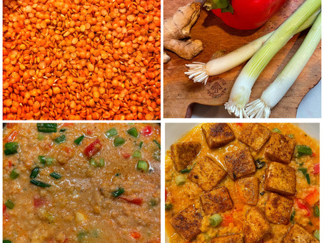 Red Lentil Thai Curry With Chili Crusted Tofu