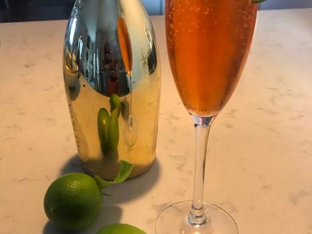 Prosecco/Campari Spritz With Lime