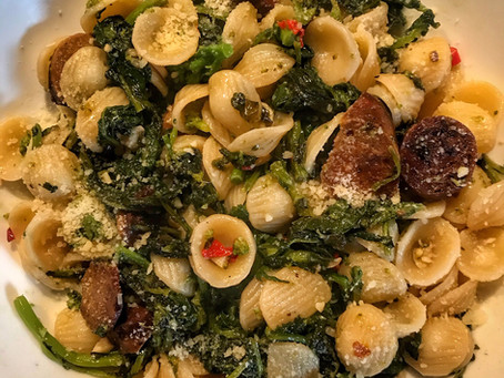 Orecchiette With Broccoli Rabe and Vegan Sausage