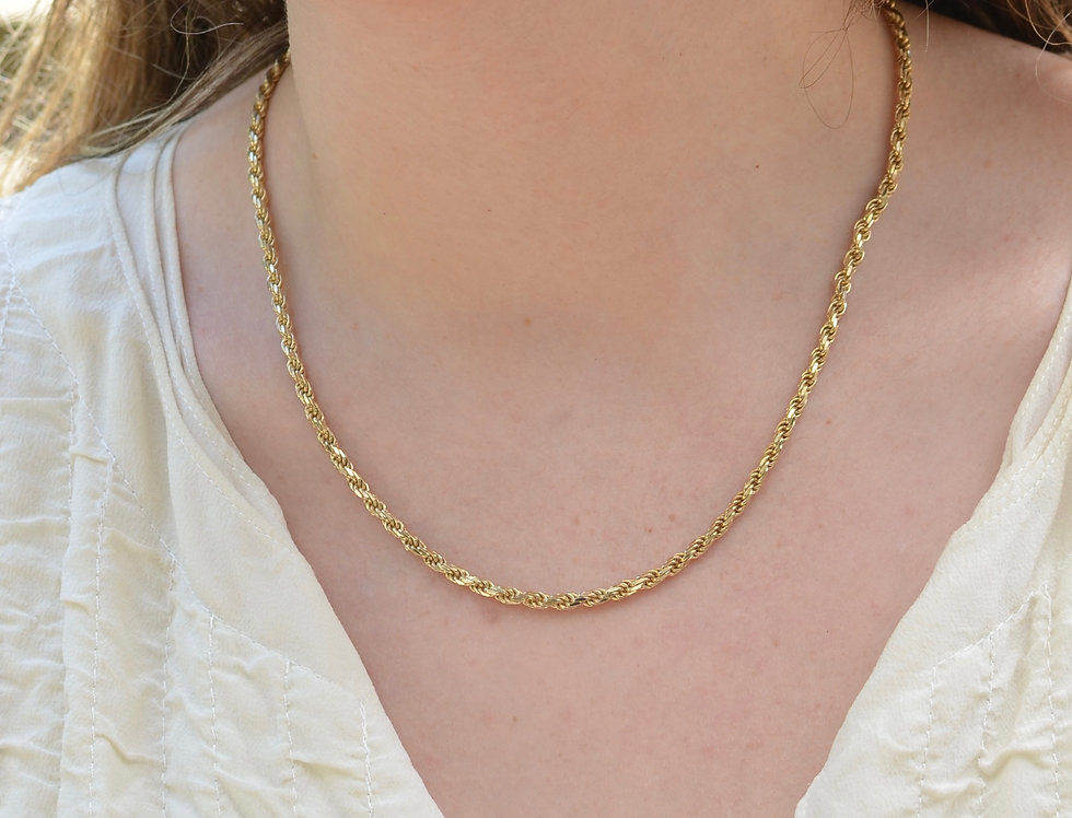 Classic Gold Rope Chain