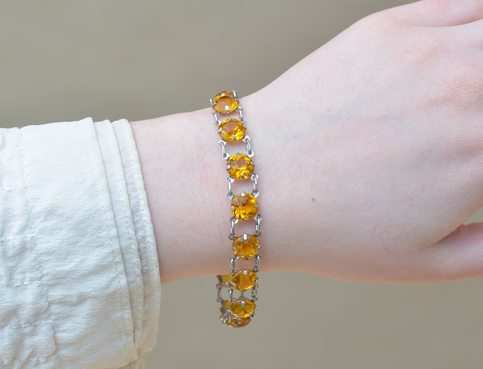 Deco Citrine Bracelet