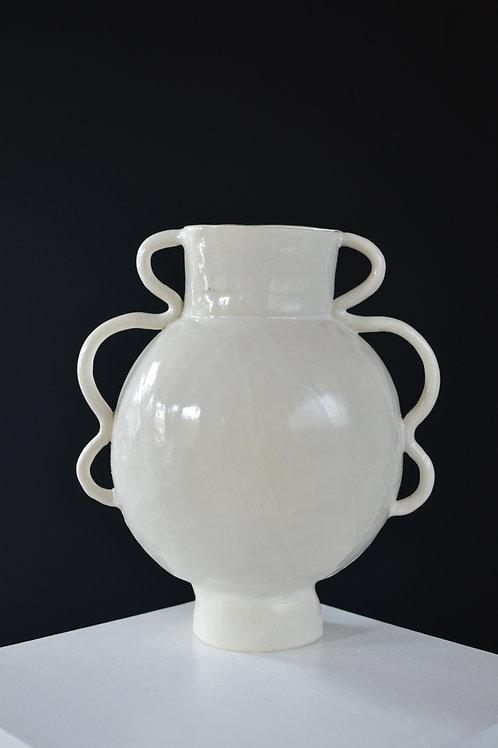 Large Stoneware Flower Vessel