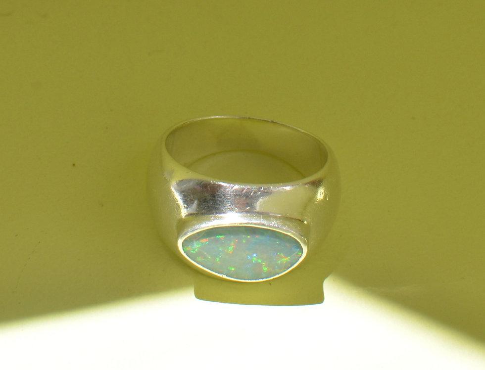 Big Blue Opal Ring