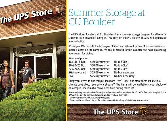 Summer Storage at CU Boulder