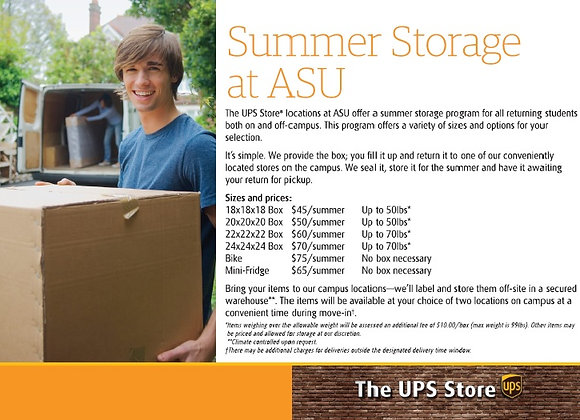 Summer Storage at ASU