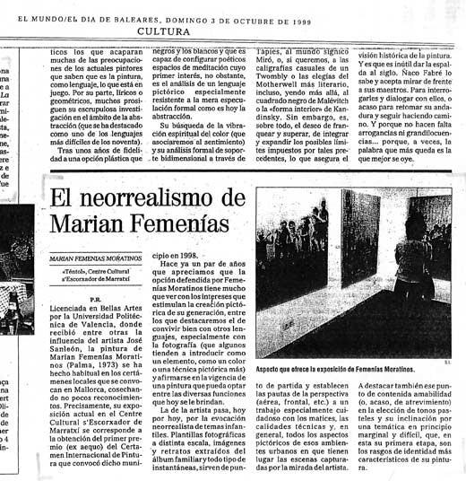 El Neorrealismo de Marian Femenías