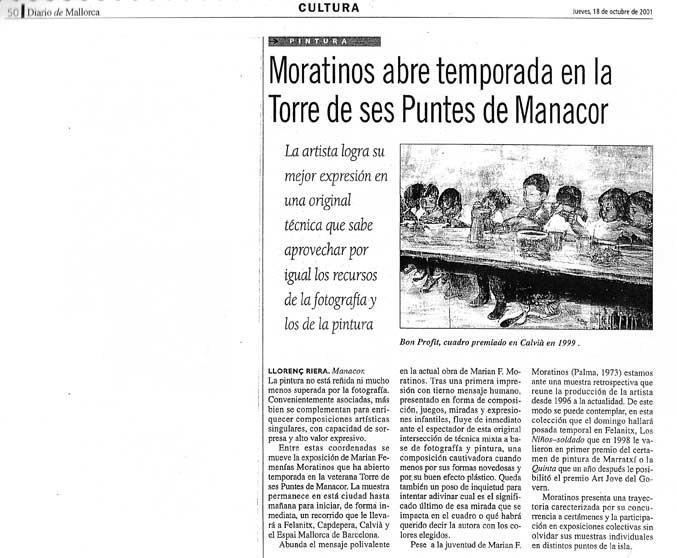 Moratinos Abre temporada en la Torre de ses Puntes in Manacor