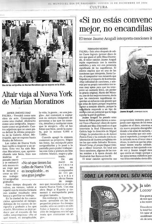 Altair viaja al Nueva York de Marian Moratinos
