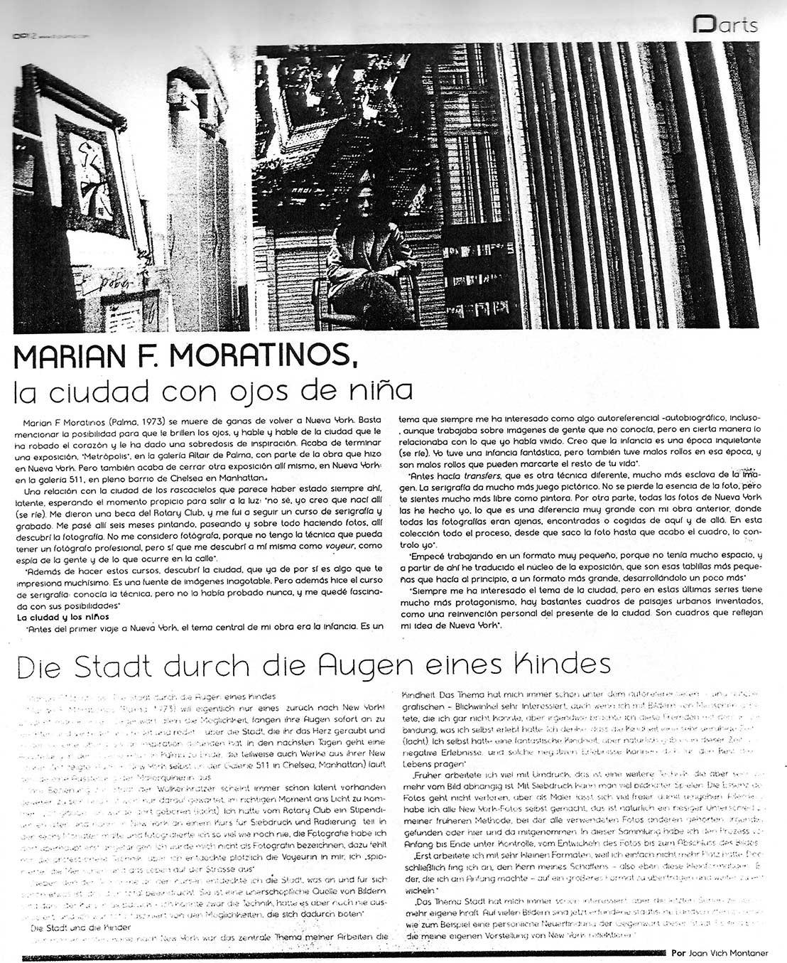 Marian F. Moratinos: La ciudad con ojos de niña