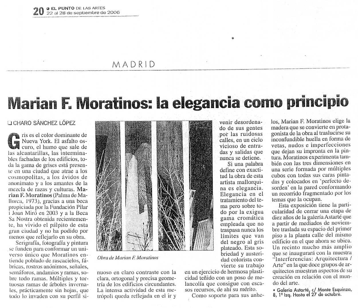 Marian Moratinos: La elegancia como principio