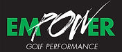 EMPOWER GOLF PERFORMANCE logo_blk bkgrnd
